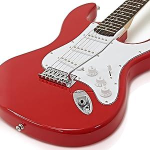 Guitarra Eléctrica LA + Pack Completo - Rojo