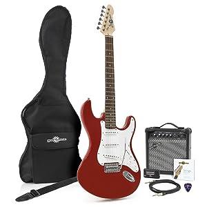 Set de Guitarra Electrica LA + Amplificador Red: Amazon.es ...