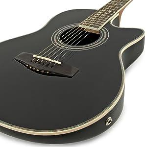 Guitarra Electroacústica Con Dorso Redondeado de Gear4music