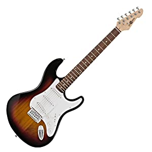Guitarra Electrica LA de Gear4music Sunburst: Amazon.es ...