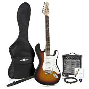 Guitarra Electrica LA Sunburst + Amplificador: Amazon.es ...