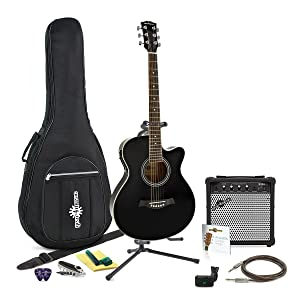 Guitarra Electroacustica Single Cutaway + Paquete Completo de Gear4music: Amazon.es: Instrumentos musicales