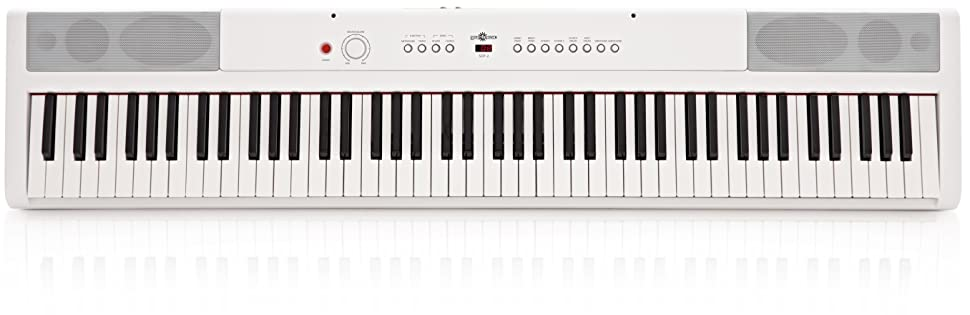Piano de Escenario SDP-2 de Gear4music + Soporte Pedal y ...