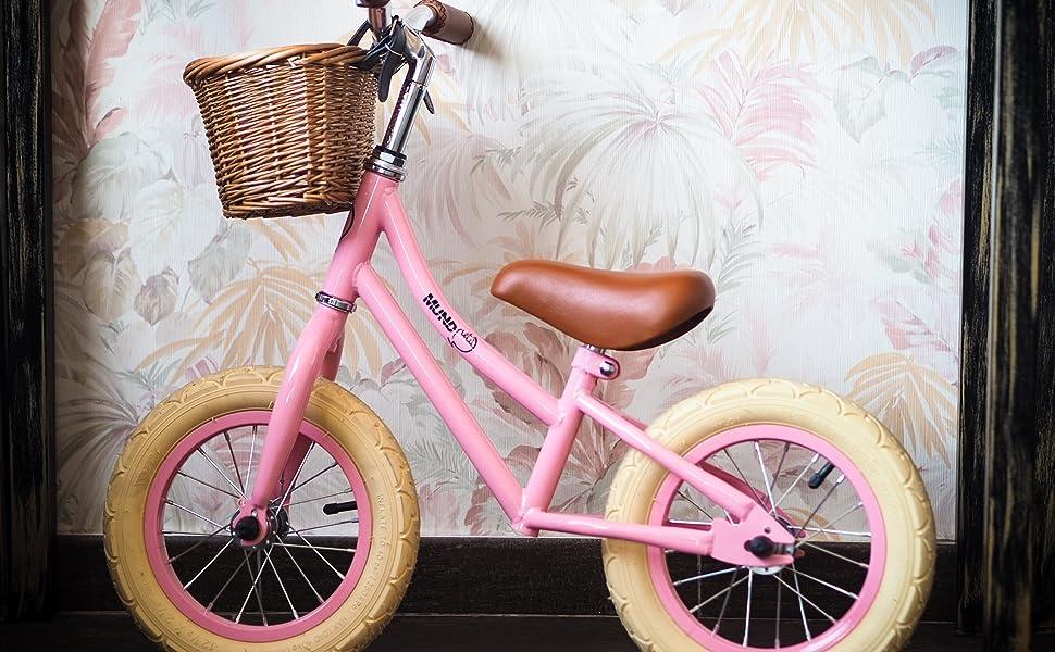 MUNDO PETIT - Bicicleta de Aprendizaje sin Pedales Vintage 12