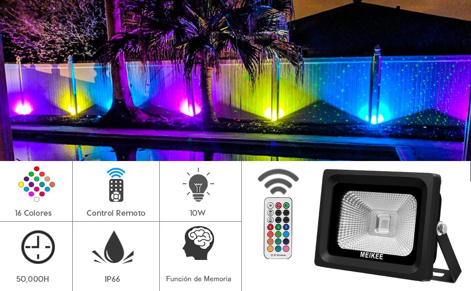 MEIKEE 15W Proyector led RGB en 16 opciones, 4 tipos de modos ...
