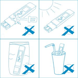 GHB Medidor de conductividad del agua con Pantalla LCD ...