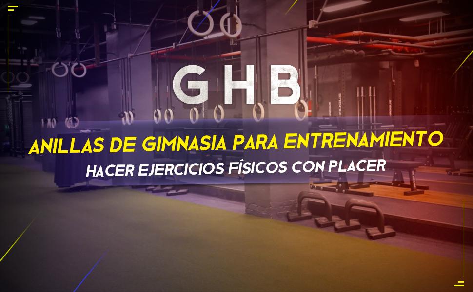 GHB Anillas de Gimnasia para Entrenamiento