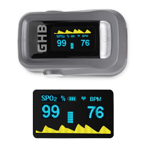 Tasa de repetición de impulsos (PR) Rango de medición: 30 lpm - 250 bpm. Precisión: 1% o 1 bpm. El paquete incluye: 1 x pulsímetro