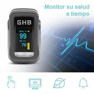 Simplemente conecte el pulsioxímetro a cualquier dedo y el dispositivo mostrará automáticamente los resultados médicos precisos en segundos.