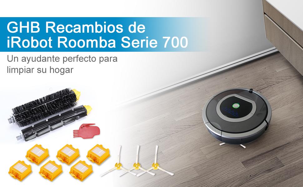 GHB 12 PCS Recambios Roomba Serie 700 Accesorios Roomba Repuestos ...