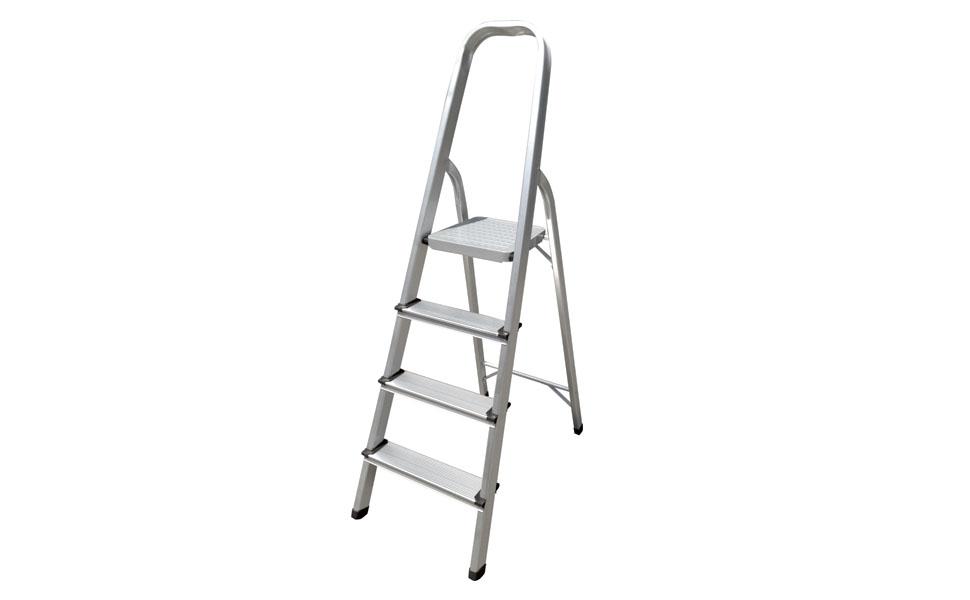Escalera de aluminio Hyfive Paso 4 - Peldaños antideslizantes - Escalera de aluminio ligero con certificado BS EN 131 Parte 2: Amazon.es: Bricolaje y herramientas
