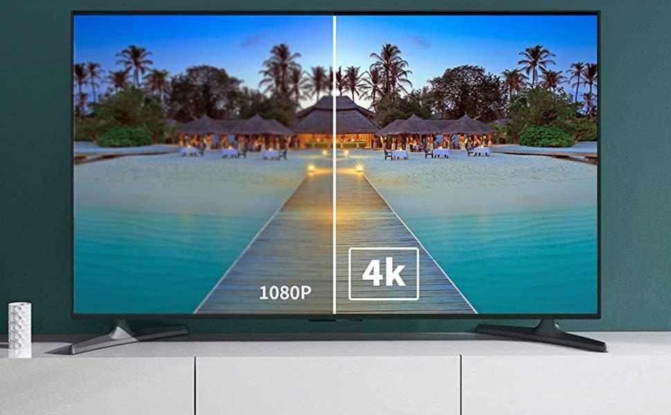 FOINNEX Activo Adaptador DisplayPort a HDMI 4K,Active Conversor DP 1.2 to HDMI 1.4 Adapter para PC,Laptop a Monitor,TV,Proyector,AMD Eyefinity Convertidor para Juegos,hasta a 6 Pantallas: Amazon.es: Electrónica