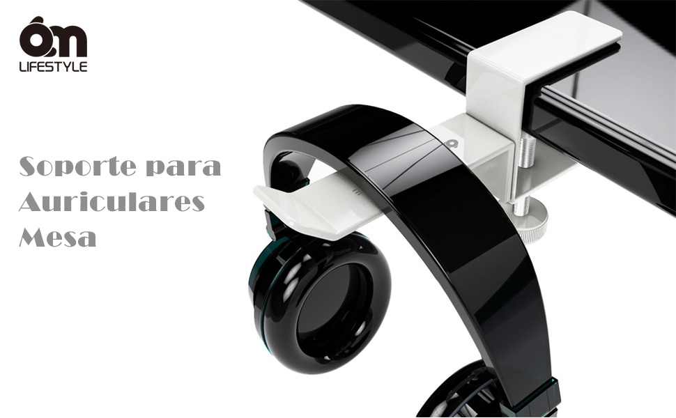 6amLifestyle Soporte para Auriculares con Abrazadera Ajustable ...