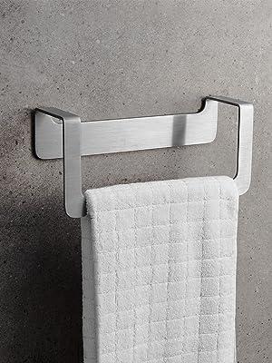 WEISSENSTEIN productos de baño accesorios baño. Toallero adhesivo pared acero inoxidable