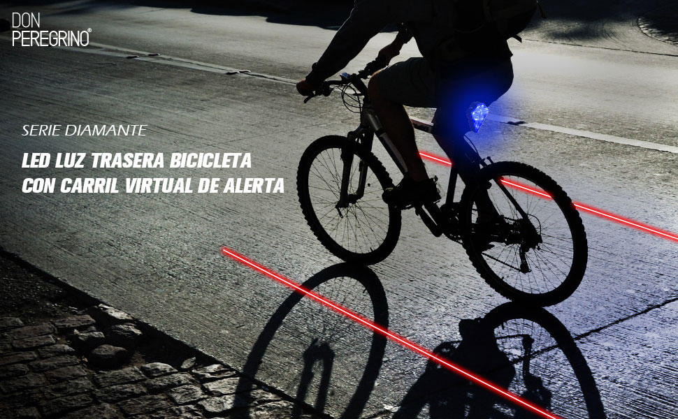 DONPEREGRINO R2 - Led Luz Trasera Bici Potente con Carril Virtual ...