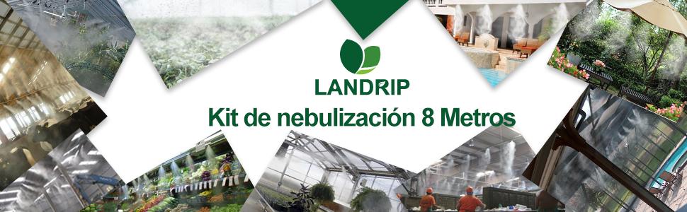 Landrip Kit Nebulizador Jardin Terraza Pergola Exterior, Sistema de Nebulizacion para Exteriores, Difusor de Agua Terraza (8M): Amazon.es: Jardín