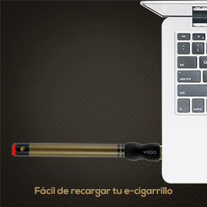 Cargador USB fácil de usar para alimentar la batería, simplemente conéctelo y espere a que la luz LED en la punta de la batería se apague para indicar que ...