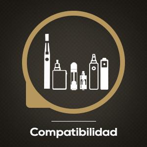 Creado para Cigma E-cigarettes, nuestros e-líquidos también son compatibles con todos los otros clearomizers en el mercado.