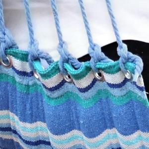 SONGMICS Hamaca con Travesa/ño Silla Colgante De Colores Carga de 200kg Az/úl