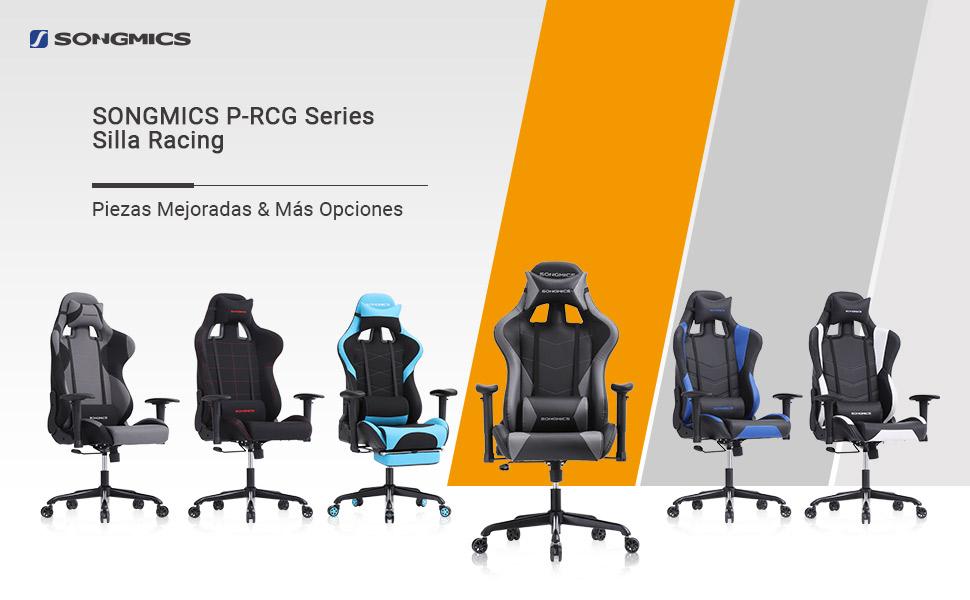 Según el material, estilo, tamaño y función, las sillas de racing de SONGMICS se dividen en 5 series: Serie C-CCG, Serie P-CCG, Serie G-CCG, Serie D-CCG y ...