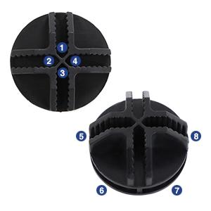 Conector de alta calidad: El conector hecho de ABS, engrosado, durable y resistente, diseño elegante y estético. La ranura interior está rasurada, por eso, ...