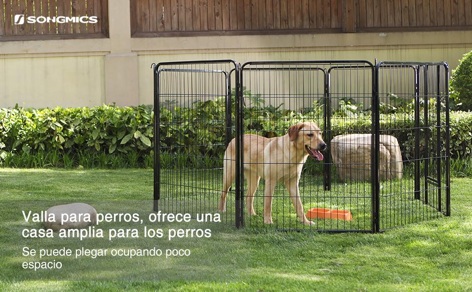 ... contiene 8 paneles que usted puede armarlos libremente en cualquier forma según sus necesidades. El parque para perros ofrece un espacio amplio y le ...