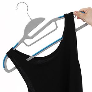 Azul SONGMICS Antideslizante 0.5/gruesa perchas fina ahorra espacio para ropa//Traje//Chaqueta//corbata pl/ástico de alta calidad 20 unidades