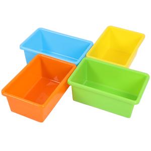 12 Cajas de almacenaje de diferentes tallas permiten que almacene varios juguetes con facilidad. Las cajas de colores vivos permiten el uso individual de ...