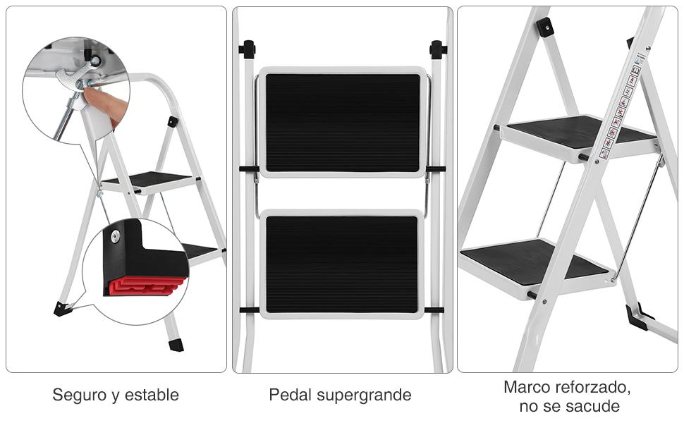 Los apoyabrazos y los cuatro pies con tacos de plástico de ingeniería antideslizantes y orientados hacia el exterior, lo que pueden garantizar la ...