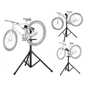 La pinza es giratoria a 360º y le permite ajustar en una posición cómoda para reparar la bicicleta. Es extensible y tiene un pequeño tamaño plegable, ...
