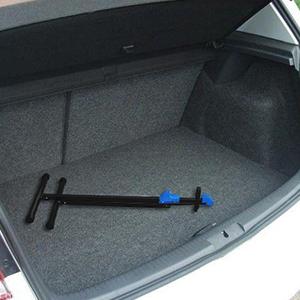 Este caballete para bicicleta es plegable y fácil llevarlo en el coche para reparar ...