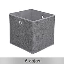 SONGMICS LSN66BK-Estantería con 6 Compartimentos (Marco de Metal, Martillo de Goma, 105 x 105 x 30 cm), Color Negro: Amazon.es: Hogar