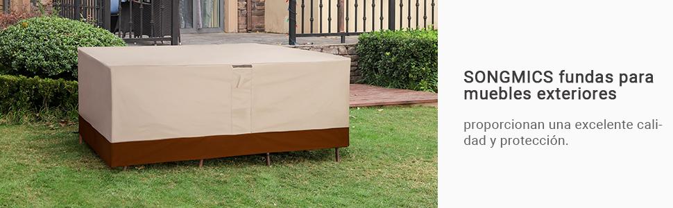 Songmics GFC92EC - Funda Protectora para Mesa y sillas (Tejido ...