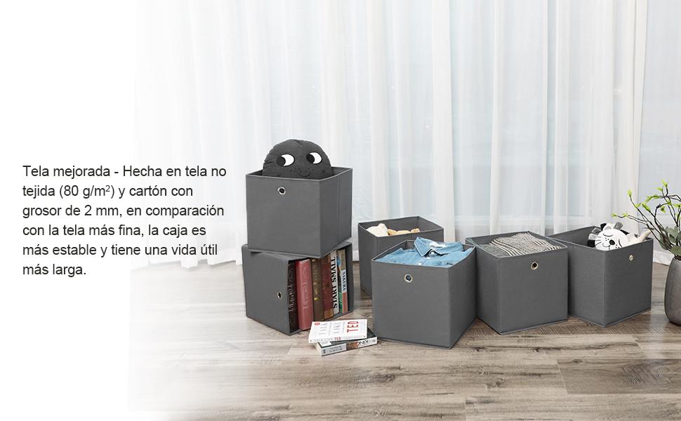 SONGMICS RFB02G-3 - Caja de almacenaje Plegable con Orificio para ...
