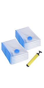 Toallas rvm081 Edredones Reutilizable para Ropa de Cama SONGMICS 8/Piezas Bolsas Bolsa De Compresi/ón al vac/ío con Bomba Almohada 40/x 60/cm 4/Mediano Cortinas Ropa