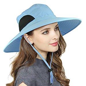 EINSKEY Sombrero Mujer Playa de ala Ancha de Verano Plegable ... 74ab5cb94f4