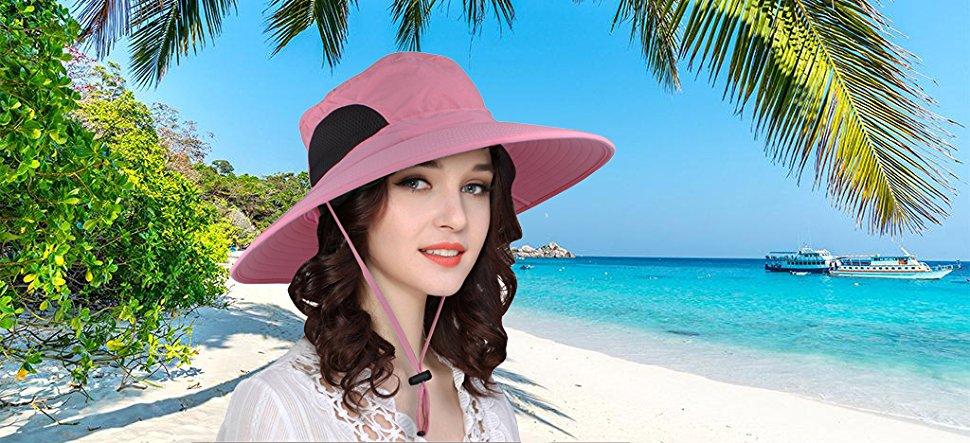 EINSKEY Sombrero Mujer Playa de ala Ancha de Verano Plegable ... 0415753535d3