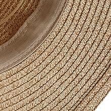 Talla única: Sombrero de paja estilo casual, ajuste ceñido y cómodo. Ajuste ideal para 55-58cm 21.6