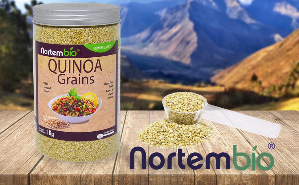 Semillas de Quinoa NortemBio 1 kg, Calidad Premium. 100 ...