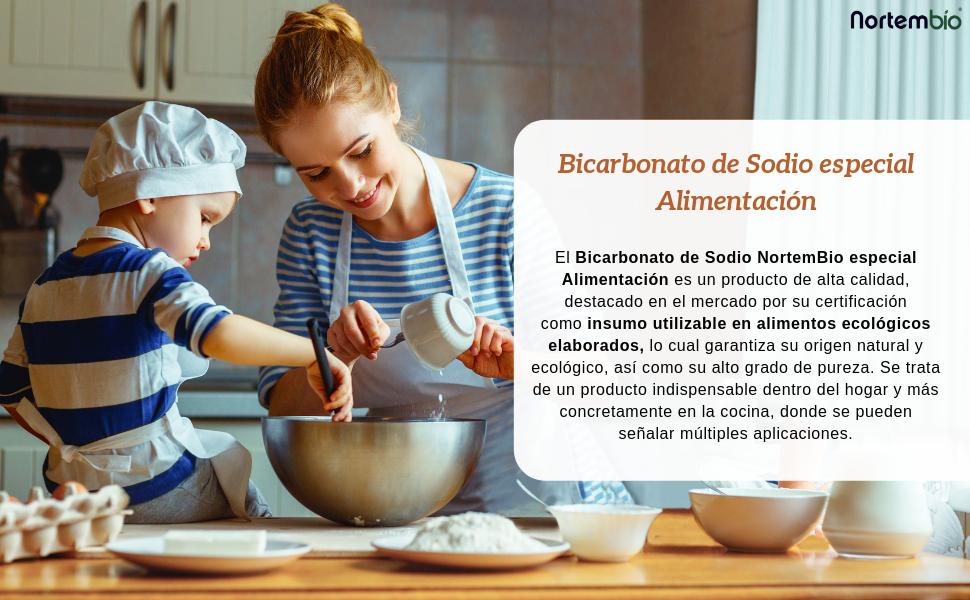 NortemBio Bicarbonato de Sodio Ecológico 6,5 Kg. Grado Alimentario. Especial para Cocinar EBook Incluido.