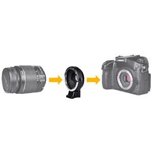 Commlite CM-AEF-MFT(B) EF/EF-S Lens to Micro Four Thirds(MFT,M4/3 ...