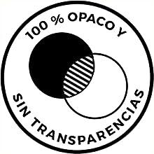 100 % OPACO Y SIN TRANSPARENCIAS