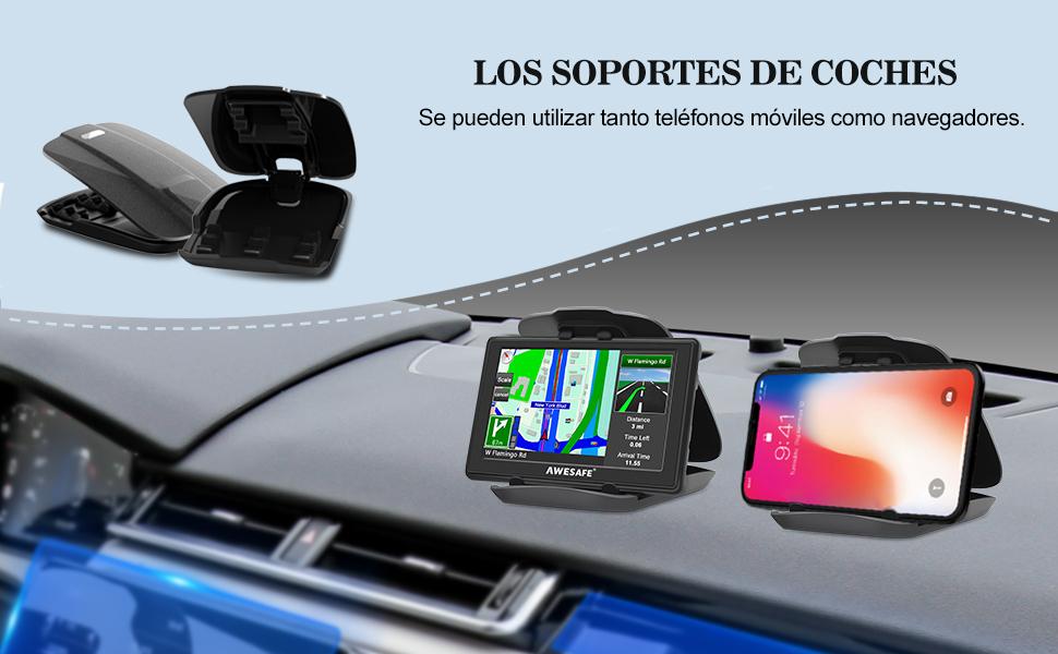 AWESAFE GPS para Coches con 5 Pulgadas Pantalla LCD, Navegador GPS para Coche y Camión con Actualizaciones de Mapas para Toda la Vida: Amazon.es: Electrónica