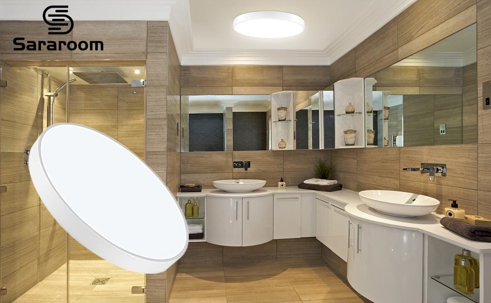 36W Plafon led de Techo, Sararoom Lamparas Techo Cocina,Empotrable Moderna LED Plafón, Para Habitacion,Estar,Comedor,Estudio,Pasillo,Dormitorio,Oficin...
