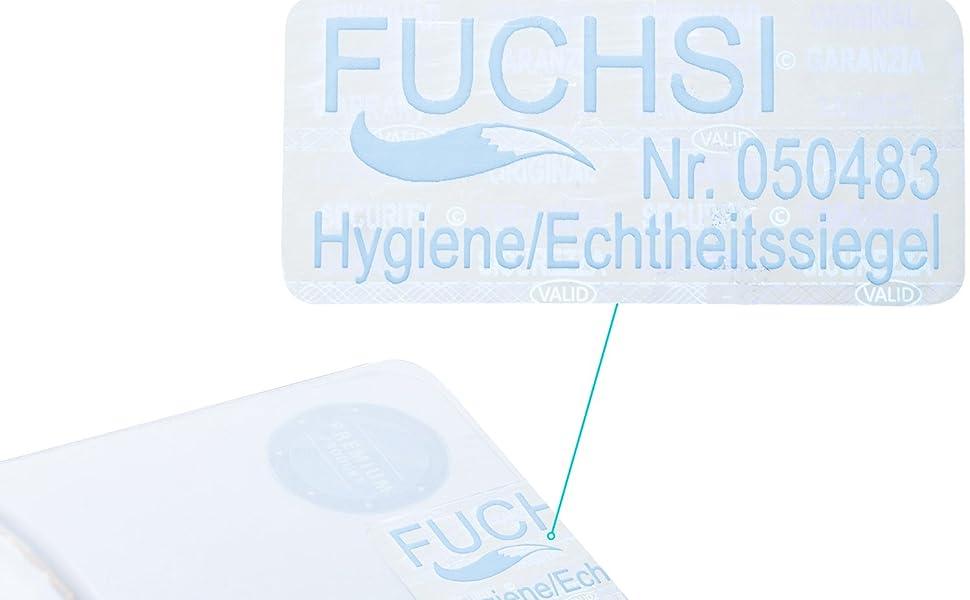 FUCHSI Vaso menstrual L | 100% libre de sustancias nocivas Silicona médica | Marca alemana | incl. bolsa de algodón | alternativa ecológica a los ...