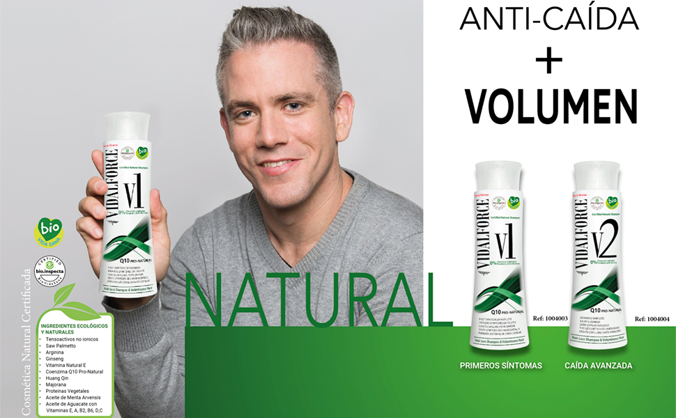 CHAMPU V1 ANTICAÍDA NATURAL + VOLUMEN
