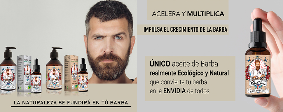 VidalForce Aceite De Barba Corta - 30 ml.