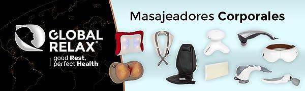 SKANDAS® Masajeador facial y de ojos (modelo 2019) - Máscara ocular y de cabeza/Gafas de masaje electricas plegables con vibromasaje, presoterapia, ...