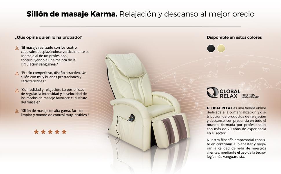 Pack Especial: KARMA Sillón Masaje - Negro (modelo 2019 ...
