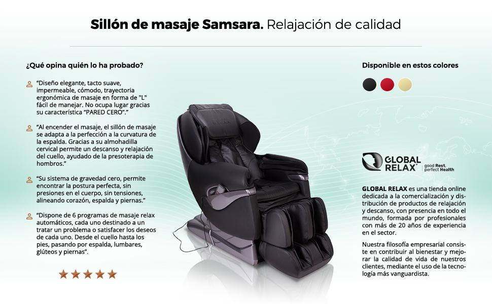 NAVIDAD -200€ l SAMSARA® Sillon de masaje 2D - Rojo (modelo ...